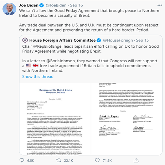 2 Biden Tweet Brexit