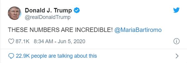 3. trump tweet