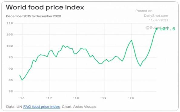3. World food price index